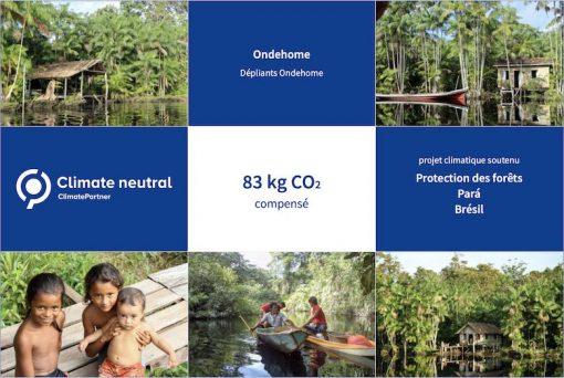 Ondehome Imprimerie éco-responsable Co2 - Empreinte Carbone compensée