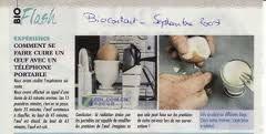 Cuire un œuf avec les ondes d'un téléphone portable smartphone danger santé