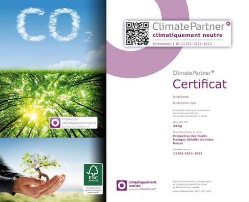 Écologique - Ondehome imprime en Empreinte Carbone Neutre - Nous plantons des Arbres