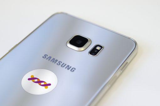 Le Nouveau Patch Anti-ondes Ondehome G6 Blanc sur Samsung